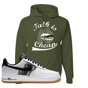 Air Force 1 Low Camo Hoodie | Talk Is Cheap, Fatigue Green