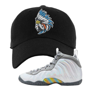 Lil Posite One Rainbow Pixel Dad Hat | Black, Indian Chief