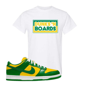 SB Dunk Low Brazil  T Shirt | White, Dunks N Boards