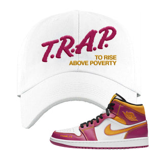Air Jordan 1 Mid Familia Dad Hat | Trap To Rise Above Poverty, White