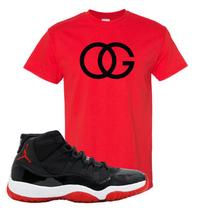 Jordan 11 Bred OG Red Sneaker Hook Up T-Shirt