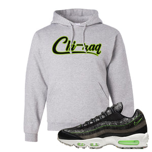 Air Max 95 Black / Electric Green Hoodie | Chiraq, Ash