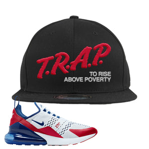 Air Max 270 USA Snapback Hat | Black, Trap To Rise Above Poverty