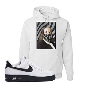Air Force 1 Low White Black Hoodie | White, Ben Franklin Mask