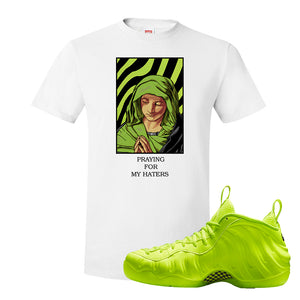 Air Foamposite Pro Volt T Shirt | God Told Me, White