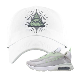 Air Max 2090 'Vast Gray' Dad Hat | White, All Seeing Eye
