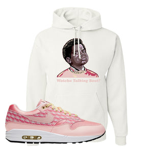 Air Max 1 Strawberry Lemonade Pullover Hoodie | Watchu Talkin Bout, White