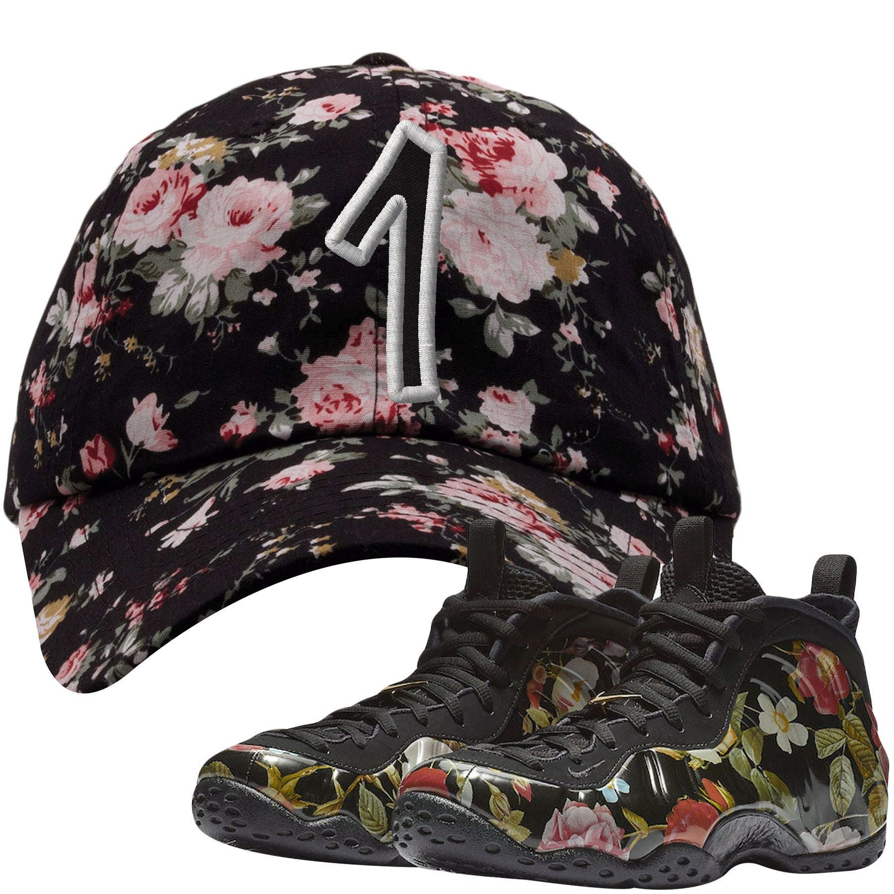 buy popular 373cf 902c6 Wear this sneaker matching hat to match your Air Foamposite One Floral  sneakers. Match your