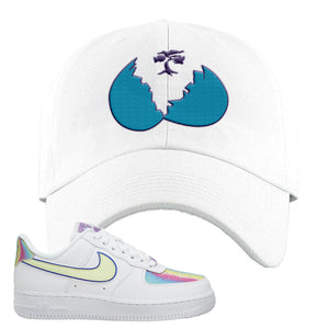 Air Force 1 Low Easter Dad Hat | White, Broken Egg