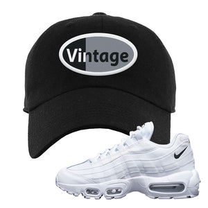Air Max 95 White Black Dad Hat | Black, Vintage Oval