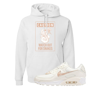 Air Max 90 Beige Snakeskin Hoodie | Caution Snakes, White