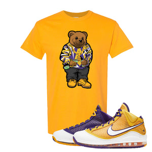Lebron 7 'Media Day' T Shirt | Gold, Sweater Bear