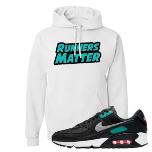 Air Max 90 Black New Green Hoodie | Runners Matter, White