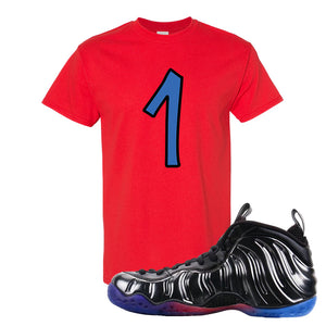 Air Foamposite One QS Gradient Soles T Shirt | Penny One, Red