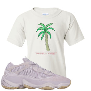 Yeezy 500 Soft Vision Love Thyself Palm White Sneaker Hook Up Kid's T-Shirt