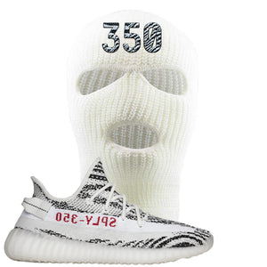 Yeezy Boost 350 V2 Zebra 350 White Sneaker Hook Up Ski Mask