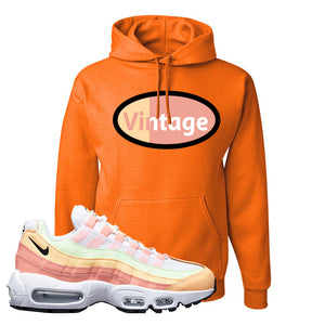 Air Max 95 WMNS Melon Tint Hoodie | Safety Orange, Vintage Oval