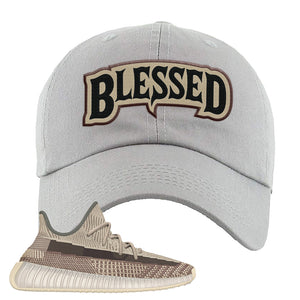 Yeezy 350 v2 Zyon Dad Hat | Light Gray, Blessed Arch
