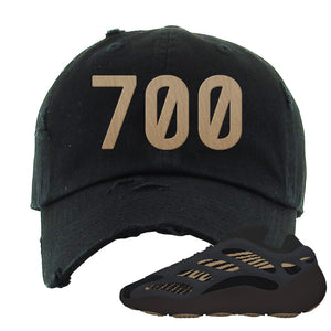 Yeezy 700 v3 Eremial Distressed Dad Hat | 700, Black