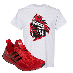 Ultra Boost 1.0 Nebraska T-Shirt | Indian Chief, Ash