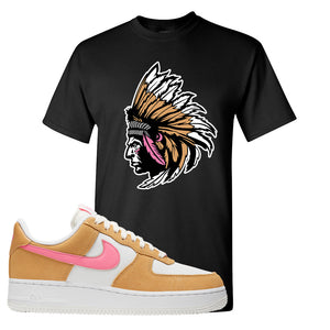 Nike Air Force 1 Pink Orange T-Shirt | Indian Chief, Black