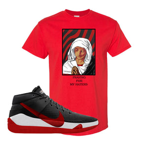 KD 13 Bred T-Shirt | God Told me, Red