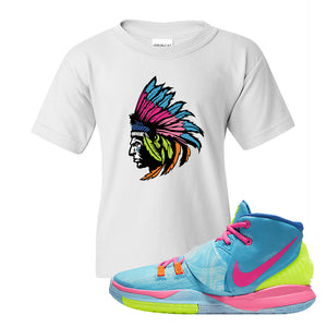 Kyrie 6 Pool Kids T-Shirt | Indian Chief, White