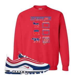 Air Max 97 USA Crewneck | Red, Exotic Ballot