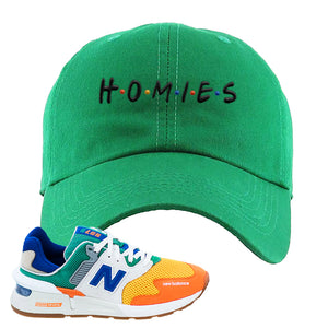 997S Multicolor Sneaker Kelly Dad Hat | Hat to match New Balance 997S Multicolor Shoes | Homies