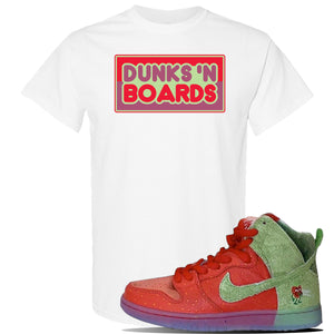 SB Dunk High 'Strawberry Cough' T Shirt | White, Dunks N Boards