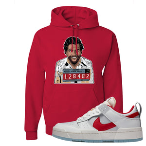 Dunk Low Disrupt Gym Red Hoodie | Escobar Illustration, Red