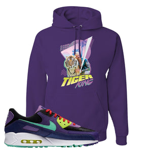 Air Max 90 Cheetah Hoodie | Retro Tiger King, Dark Purple