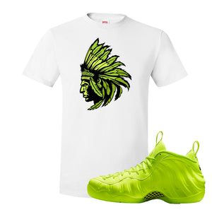 Air Foamposite Pro Volt T Shirt | Indian Chief, White