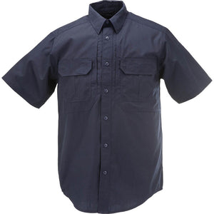 the Police Public Safety | Tactical Short Sleeve Police Uniform Button Down Navy Blue | Taclite PDU Law Enforcement Polo Shirt Midnight Navy has flap pockets with velcro