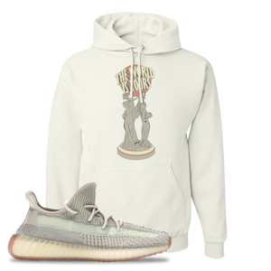 Yeezy Boost 350 V2 Citrin Non-Reflective The World Is Yours Statue White Sneaker Matching Pullover Hoodie