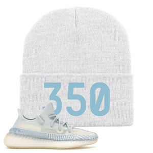Yeezy Boost 350 V2 Cloud Non-Reflective 350 Sneaker Matching White Beanie