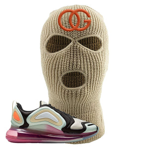 Air Max 720 WMNS Black Fossil Sneaker Khaki Ski Mask | Winter Mask to match Nike Air Max 720 WMNS Black Fossil Shoes | OG