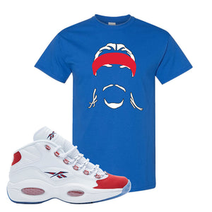 Question Mid OG Suede Toe T Shirt | Headband Corn Rows, Royal Blue