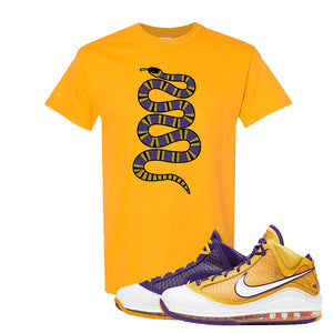 Lebron 7 'Media Day' T Shirt | Gold, Coiled Snake