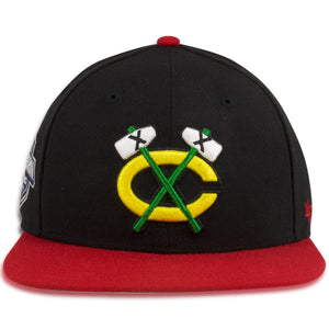 Chicago Blackhawks Two Tone Black / Red Western Conference Patch Snapback Hat
