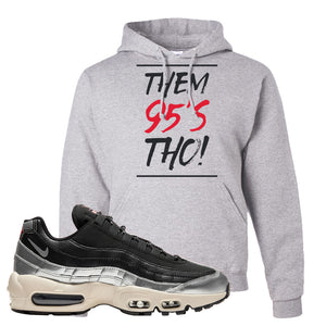 3M x Nike Air Max 95 Silver and Black Pullover Hoodie | Them 95s Tho, Ash