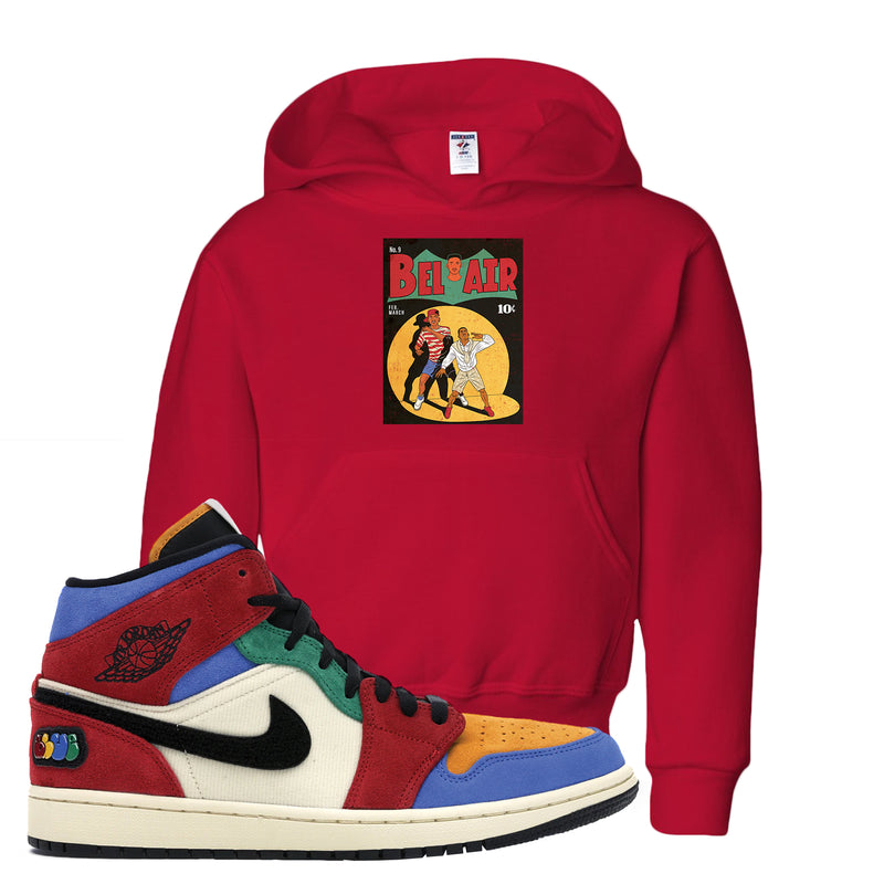 Jordan 1 X Blue The Great Kid's Hoodie | Red, Bel Air