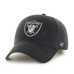 Oakland Raiders Youth Black Adjustable Dad Hat