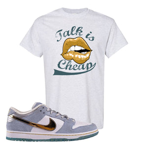 Sean Cliver x SB Dunk Low T Shirt | Talk Is Cheap, Ash