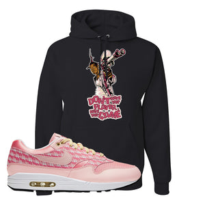 Air Max 1 Strawberry Lemonade Pullover Hoodie | Dont Hate The Playa, Black
