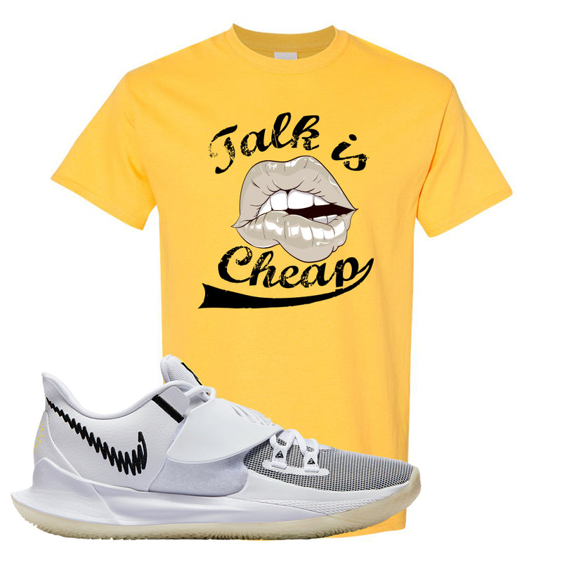 Kyrie Low 3 T Shirt | Daisy, Talk is Cheap