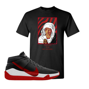 KD 13 Bred T-Shirt | God Told me, Black