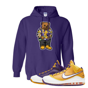Lebron 7 'Media Day' Hoodie | Purple, Sweater Bear