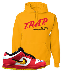 Nike Dunk Low Vietnam 25th Anniversary Pullover Hoodie | Trap To Rise Above Poverty, Gold