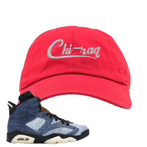 Air Jordan 6 Washed Denim Carp Pattern Red Sneaker Hook Up Dad Hat